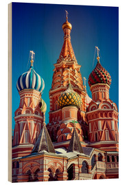 Cuadro de madera  St. Basil's Cathedral, Russia