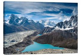 Lienzo  Mountains with lake in the Himalayas, Nepal