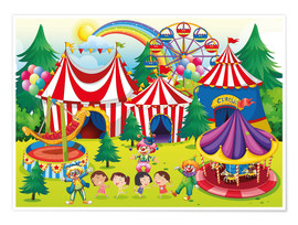 Póster Colorful circus