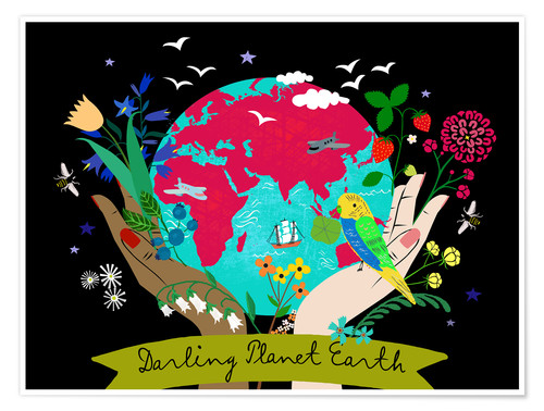Póster Darling Planet Earth