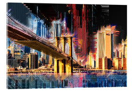 Cuadro de metacrilato  New York mit Brooklyn Bridge - Peter Roder