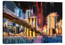 Lienzo  New York mit Brooklyn Bridge - Peter Roder