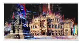 Póster Semperoper in Dresden