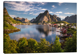 Lienzo  Fishing village in the Lofoten Islands, Norway - Dennis Fischer