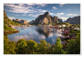 Póster Fishing village in the Lofoten Islands, Norway