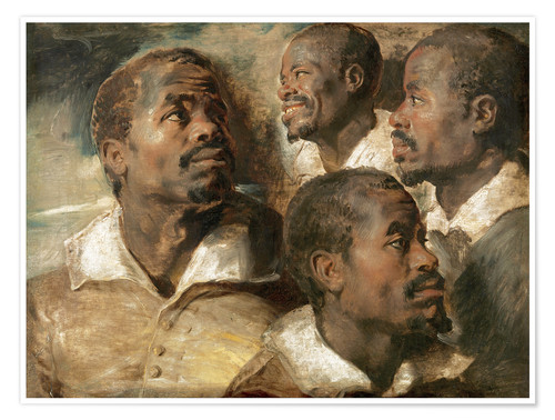 Póster Four Studies of a Head of a Man