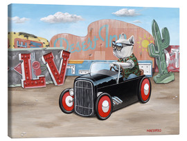 Lienzo  Las Vegas Hot Rod Frenchie - Macsorro