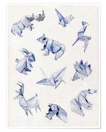 Póster Origami animals