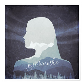 Póster Just breathe