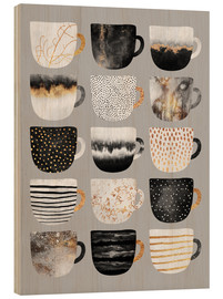Madera  Pretty Coffee Cups 3   Grey - Elisabeth Fredriksson