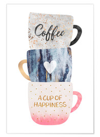 Póster  A cup of happiness - Elisabeth Fredriksson