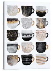 Lienzo  Pretty Coffee Cups 3   White - Elisabeth Fredriksson