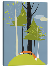 Lienzo  Fox in the forest - Kidz Collection