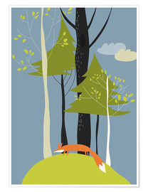 Póster  Fox in the forest - Kidz Collection