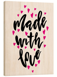 Cuadro de madera  Made with love - Typobox