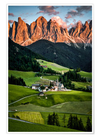 Póster South Tyrol, Italy, Dolomites