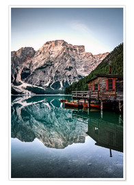 Póster  Braies Lake, South Tyrol, Italy - Sören Bartosch