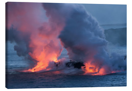 Lienzo  Lava meets Water, Big Island, Hawaii - Markus Ulrich