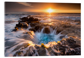Cuadro de metacrilato  Pools of Paradise during Sunset at the Coast of Hawaii (Big Island) - Markus Ulrich