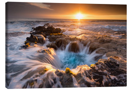 Lienzo  Pools of Paradise during Sunset at the Coast of Hawaii (Big Island) - Markus Ulrich
