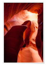 Póster Formation in Canyon X slot canyon, Page, Arizona, USA