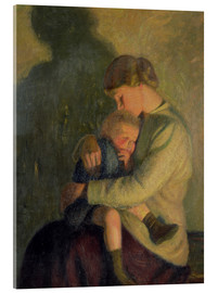 Cuadro de metacrilato  Mother and Child: Candlelight - William Rothenstein