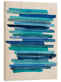 Madera  Blue Stripes 1 - Mareike Böhmer Graphics