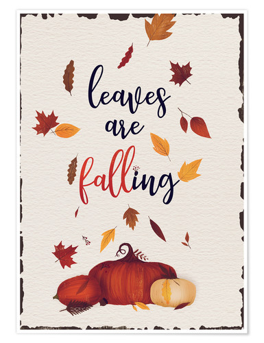 Póster leaves are falling