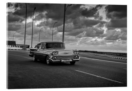 Cuadro de metacrilato  Classic Cuban Car in black and white - Alex Saberi