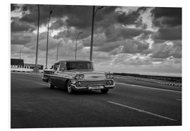 Cuadro de PVC  Classic Cuban Car in black and white - Alex Saberi
