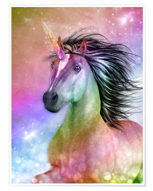 Póster  Unicorn - Be authentic - Dolphins DreamDesign