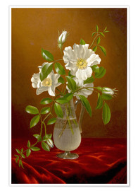 Póster Cherokee Roses in a Glass Vase