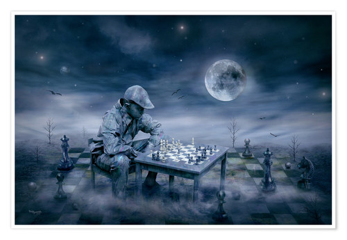 Póster A boy is playing Chess
