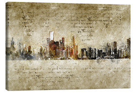 Lienzo  Chicago skyline in modern abstract vintage look - Michael artefacti