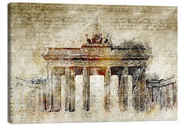 Lienzo  Berlin Brandenburg Gate in modern abstract vintage look - Michael artefacti