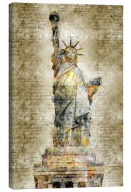 Lienzo  Statue of liberty New York in modern abstract vintage look - Michael artefacti