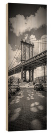 Cuadro de madera  NEW YORK CITY Manhattan Bridge Panorama - Melanie Viola
