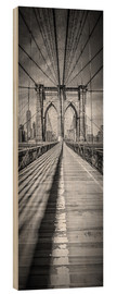 Madera  NEW YORK CITY Brooklyn Bridge Panorama - Melanie Viola