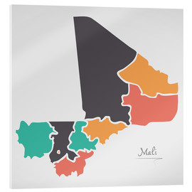 Metacrilato  Mali map modern abstract with round shapes - Ingo Menhard