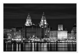 Póster Liverpool Water Front