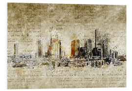 Cuadro de PVC  Frankfurt skyline abstract vintage - Michael artefacti