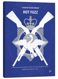 Lienzo  No847 My Hot Fuzz minimal movie poster - chungkong