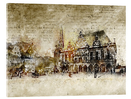 Cuadro de metacrilato  Bremen market marketplace modern and abstract - Michael artefacti