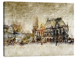 Lienzo  Bremen market marketplace modern and abstract - Michael artefacti