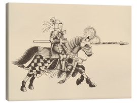 Lienzo  Knight with armor and horse