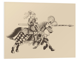 Cuadro de PVC  Knight with armor and horse
