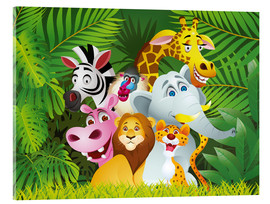 Cuadro de metacrilato  Animales de la jungla - Kidz Collection