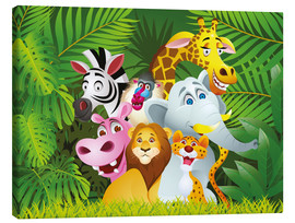 Lienzo  Animales de la jungla - Kidz Collection