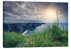 Lienzo  View over the cliffs of Moher, Ireland