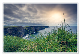 Póster  View over the cliffs of Moher, Ireland